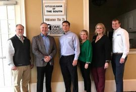Citizens Bank of the South hosts March Meeting